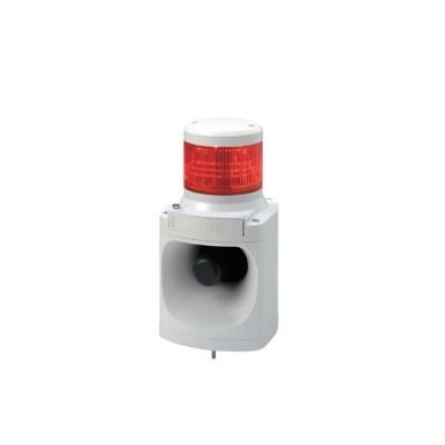【キャッシュレス5%還元店】パトライト LED積層信号灯付き電子音報知器 LKEH-102FA-R 赤 【送料無料】【KK9N0D18P】