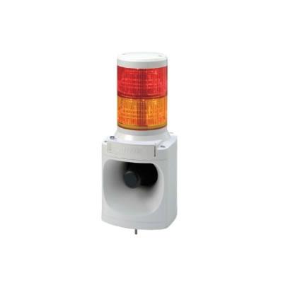 パトライト LED積層信号灯付き電子音報知器 LKEH-210FA-RY 赤黄 【送料無料】【KK9N0D18P】