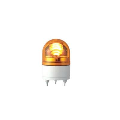 パトライト LED回転灯 ブザー付き RHEB-24-Y 黄 【送料無料】【KK9N0D18P】