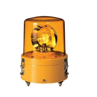 パトライト 耐振型大型回転灯 RV-110A-Y 黄 【送料無料】【KK9N0D18P】