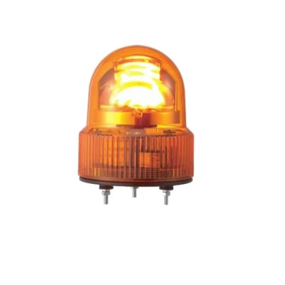 【キャッシュレス5%還元店】パトライト LED回転灯 SKHE-100-Y 黄 【送料無料】【KK9N0D18P】