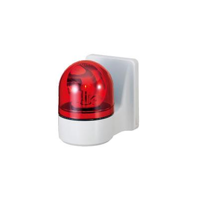 パトライト 壁面取付け小型回転灯 ブザー付き WHB-100A-R 赤 【送料無料】【KK9N0D18P】
