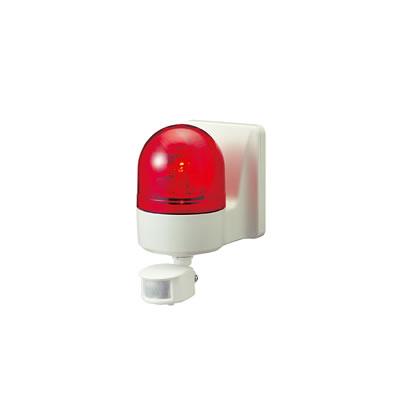 パトライト 壁面取付けセンサ付き回転灯 WHS-100A-R 赤 【送料無料】【KK9N0D18P】