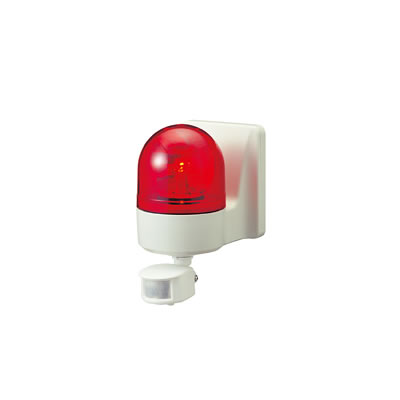 パトライト 壁面取付けセンサ付き回転灯 ブザー付き WHSB-100A-R 赤 【送料無料】【KK9N0D18P】