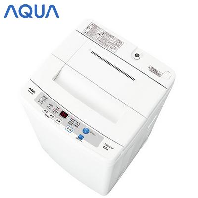 아쿠아 세탁기 세로형 전자동 세탁기 AQUA AQW-S45C-W화이트 세탁・탈수 용량 4.5 kg