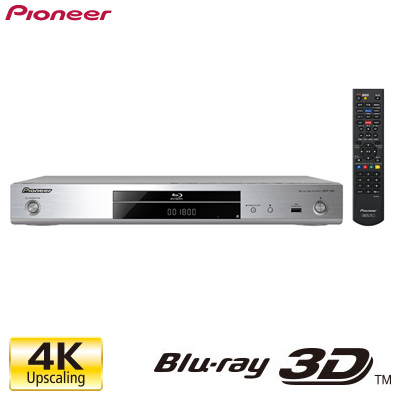 【即納】パイオニア ブルーレイディスク/DVD/CDプレーヤー 4K/24pアップスケーリング BDP-180-S シルバー 【送料無料】【KK9N0D18P】