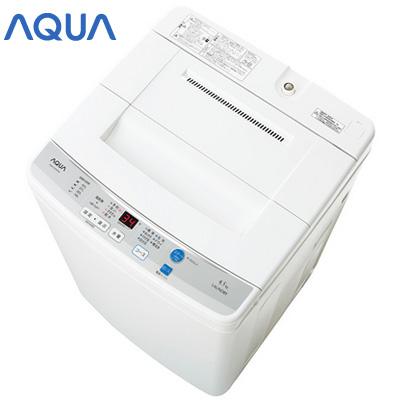【ポイント最大43倍!~11/10(土)23:59迄】アクア 全自動洗濯機 タテ型 AQUA AQW-S45D-W ホワイト 洗濯・脱水4.5kg 【送料無料】【KK9N0D18P】