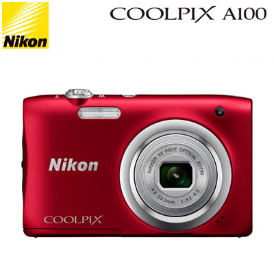 ニコン コンパクトデジタルカメラ COOLPIX A100 COOLPIX-A100-RD レッド コンデジ 【送料無料】【KK9N0D18P】
