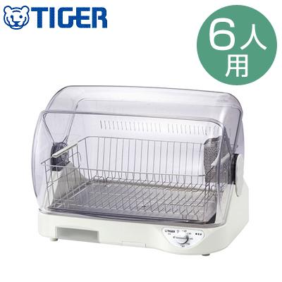 タイガー 食器乾燥器 6人用 サラピッカ 温風式 取りはずせるステンレス製トレイ DHG-S400-W ホワイト 食器乾燥機 【送料無料】【KK9N0D18P】