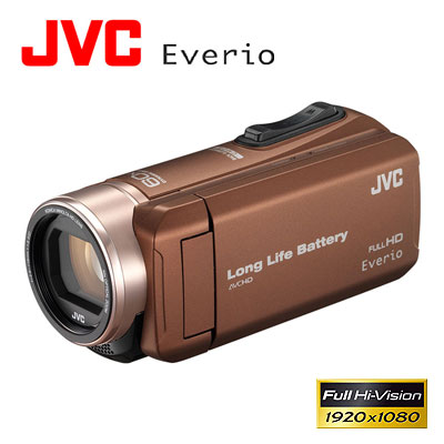 JVC ビデオカメラ エブリオ ハイビジョンメモリームービー 32GB GZ-F200-T ライトブラウン 【送料無料】【KK9N0D18P】