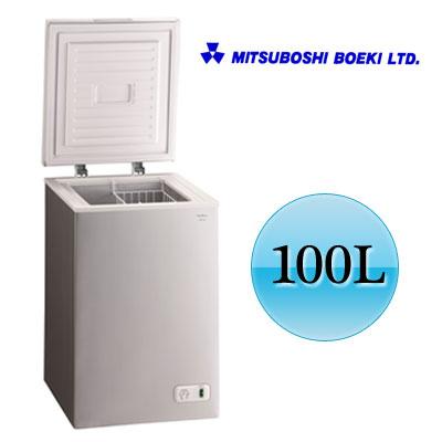 冷凍庫 100L Excellence チェスト型 ノンフロン冷凍庫 三ツ星貿易 KM-100 シルバー 【送料無料】【KK9N0D18P】