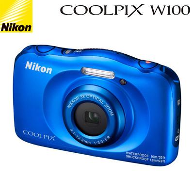 ニコン コンパクトデジタルカメラ COOLPIX W100 COOLPIX-W100-BL ブルー コンデジ【送料無料】【KK9N0D18P】