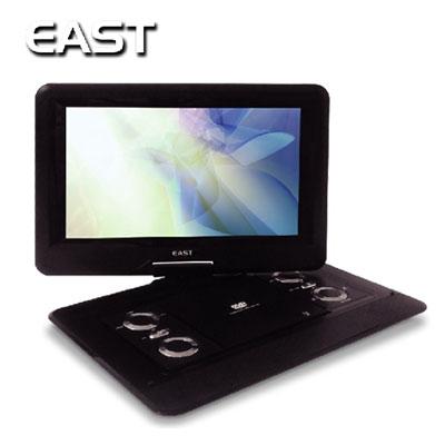 【即納】EAST 14インチ ポータブルDVDプレーヤー バッテリー内蔵 DVD-P1400 【送料無料】【KK9N0D18P】