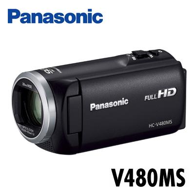 【キャッシュレス5%還元店】パナソニック デジタルハイビジョンビデオカメラ 32GBメモリー内蔵 HC-V480MS-K ブラック 【送料無料】【KK9N0D18P】