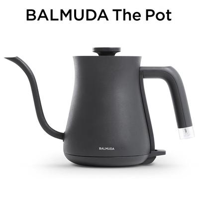 【キャッシュレス5%還元店】バルミューダ ステンレス製 電気ケトル 0.6L BALMUDA The Pot K02A-BK ブラック BALMUDA【送料無料】【KK9N0D18P】