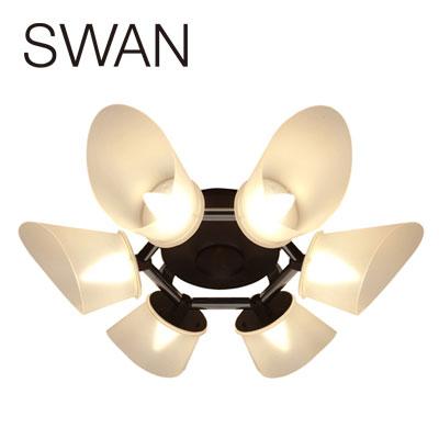 LED天井照明 Slimac スワン電器 LEDシャンデリア CE-102 ブラウン 【送料無料】【KK9N0D18P】