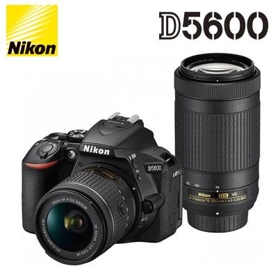 ニコン デジタル一眼レフカメラ D5600 Nikon ダブルズームキット D5600-WZ-BK 【送料無料】【KK9N0D18P】