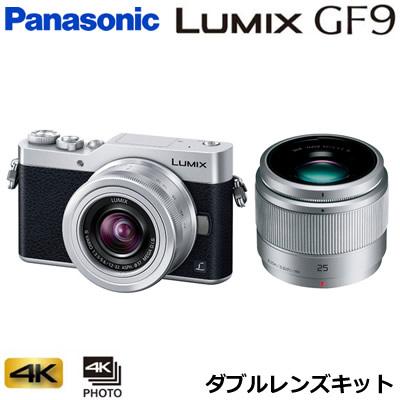 パナソニック ミラーレス一眼カメラ ルミックス LUMIX Gシリーズ DC-GF9 ダブルレンズキット DC-GF9W-S シルバー【送料無料】【KK9N0D18P】