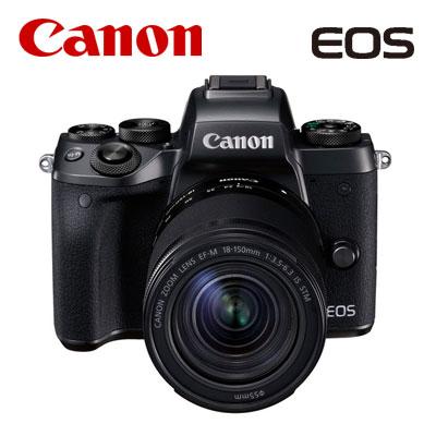 【キャッシュレス5%還元店】CANON ミラーレスカメラ EOS M5 EF-M18-150 IS STMレンズキット キヤノン EOSM5-18150ISSTMLK 【送料無料】【KK9N0D18P】