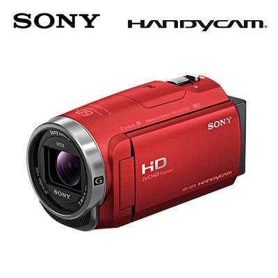 代引き手数料無料・送料無料・延長保証申込可 【キャッシュレス5%還元店】SONY デジタルHDビデオカメラレコーダー ハンディカム 64GB HDR-CX680-R レッド 【送料無料】【KK9N0D18P】
