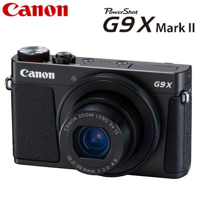 【即納】キヤノン コンパクトデジタルカメラ PowerShot G9 X Mark II パワーショット デジカメ コンデジ PSG9X-MARKII-BK ブラック 1717C004 【送料無料】【KK9N0D18P】