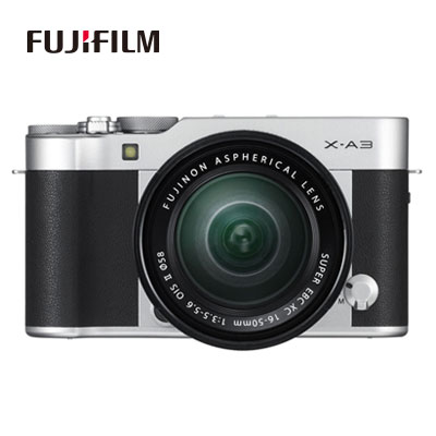 FUJIFILM ミラーレス一眼カメラ レンズキット X-A3/XC16-50mmF3.5-5.6 OIS II 富士フイルム X-A3LK-XC-S シルバー 【送料無料】【KK9N0D18P】