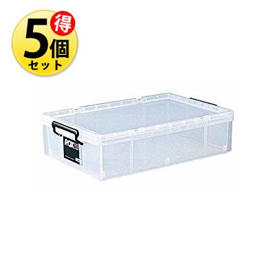 【5個セット】天馬 収納ボックス プラスチック ロックス 660S / 外寸サイズ:幅44×奥行66×高さ16.5cm 4904746431288-5 【送料無料】【KK9N0D18P】