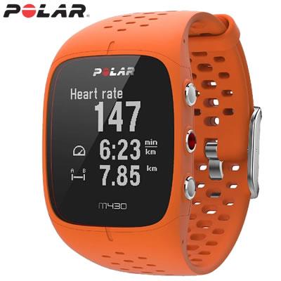 ポラール Polar M430 GPSランニングウォッチ 活動量計 M430-OR オレンジ【送料無料】【KK9N0D18P】