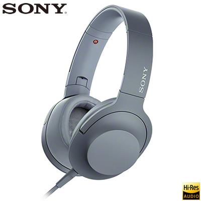 ソニー ステレオヘッドホン h.ear on 2 ハイレゾ対応 密閉ダイナミック型 MDR-H600A-L ムーンリットブルー【送料無料】【KK9N0D18P】