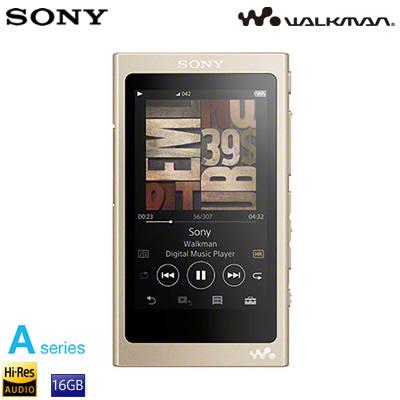 ソニー ウォークマン Aシリーズ 16GB ポータブルオーディオプレーヤー ハイレゾ対応 NW-A45-N ペールゴールド【送料無料】【KK9N0D18P】