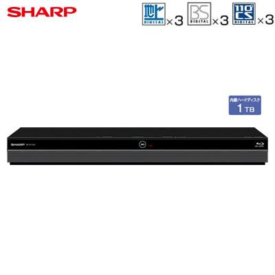シャープ アクオス ブルーレイディスクレコーダー ドラ丸 1TB HDD内蔵 トリプルチューナー 3番組同時録画 BD-NT1200