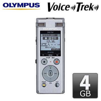 【キャッシュレス5%還元店】オリンパス ICレコーダー 4GB Voice-Trek DM-750-SLV シルバー 【送料無料】【KK9N0D18P】