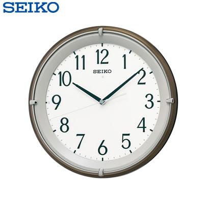 セイコー クロック 掛け時計 自動点灯 電波 アナログ 木枠 茶 メタリック KX203B SEIKO 【送料無料】【KK9N0D18P】