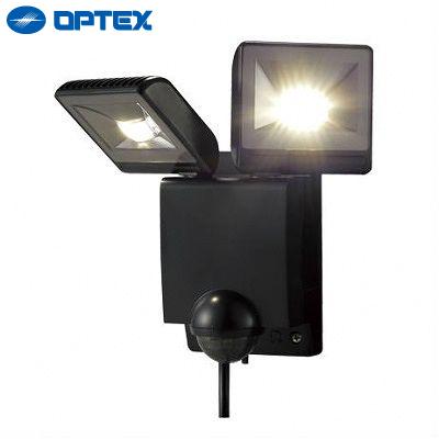 オプテックス LEDセンサーライト 2灯タイプ LA22LEDBL ブラック OPTEX 【送料無料】【KK9N0D18P】