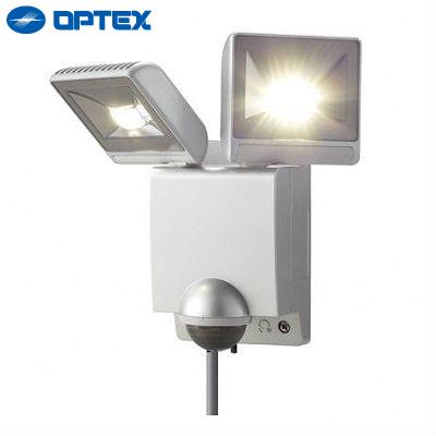 【キャッシュレス5%還元店】オプテックス LEDセンサーライト 2灯タイプ LA22LEDS シルバー OPTEX 【送料無料】【KK9N0D18P】
