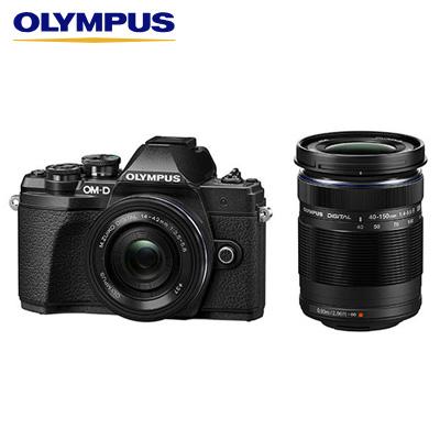 【即納】オリンパス デジタル一眼カメラ ミラーレス一眼カメラ OM-D E-M10 Mark III EZダブルズームキット E-M10-MKIII-EZWZK-BK ブラック【送料無料】【KK9N0D18P】