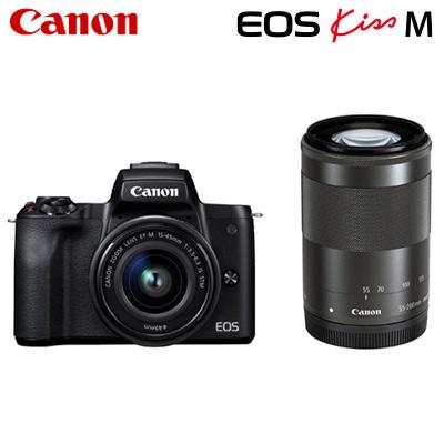 Canon キヤノン ミラーレス一眼カメラ EOS EOS Kiss M ダブルズームキット EOSKissM-WZK-BK M ブラック キヤノン【送料無料】【KK9N0D18P】, 模型プラモ総合専門店 ホビコレ:56c87b11 --- garagemastertech.ca