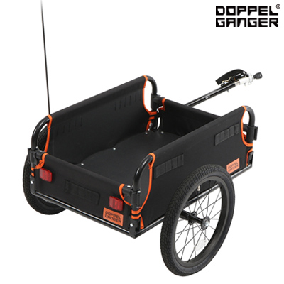 ドッペルギャンガー マルチユースサイクルトレーラー DCR434-DP ブラック / オレンジ ビーズ【送料無料】【KK9N0D18P】