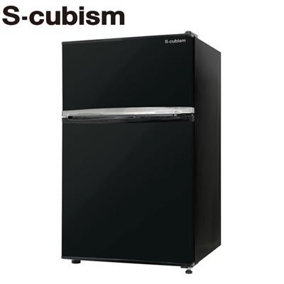 エスキュービズム 90L 冷凍冷蔵庫 2ドア 左右開き対応 RM-90L02BK 2ドア ブラック【送料無料 RM-90L02BK】 90L【KK9N0D18P】, BRIGHT:5c483211 --- sunward.msk.ru