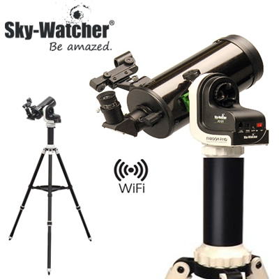 スカイウォッチャー 天体望遠鏡 WiFi対応自動導入式 AZ-Gti+MC90セット SET044【送料無料】【KK9N0D18P】