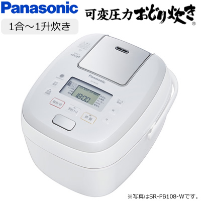 パナソニック 1升炊き 可変圧力IHジャー炊飯器 可変圧力おどり炊き SR-PB188-W ホワイト【送料無料】【KK9N0D18P】