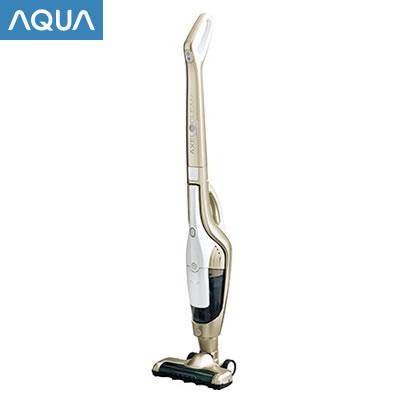アクア 掃除機 サイクロン式 スティック&ハンディクリーナー AQC-LX1F-N ゴールド AQUA【送料無料】【KK9N0D18P】
