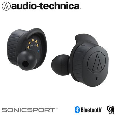 オーディオテクニカ 完全ワイヤレスイヤホン Bluetooth5.0 防水性能IPX5 トゥルーワイヤレス SONICSPORT ATH-SPORT7TW-BK ブラック【送料無料】【KK9N0D18P】