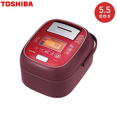 東芝 5.5合炊き ジャー炊飯器 真空圧力IH RC-10VXM-RS ディープレッド【送料無料】【KK9N0D18P】
