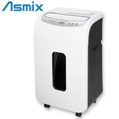 アスカ Asmix 電動 A4対応 大量細断 クロスカットシュレッダー 静音タイプ LED搭載引き出し式ダストボックス S69 ホワイト【送料無料】【KK9N0D18P】