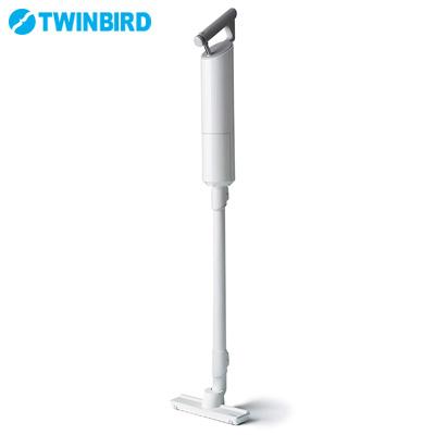 ツインバード コードレススティック型クリーナー 紙パック式 TC-E262W ホワイト【送料無料】【KK9N0D18P】