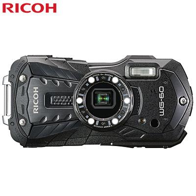 リコー WG-60-BK コンパクトデジタルカメラ 防水 耐衝撃 防塵 耐寒 タフネスカメラ ブラック【送料無料】【KK9N0D18P】