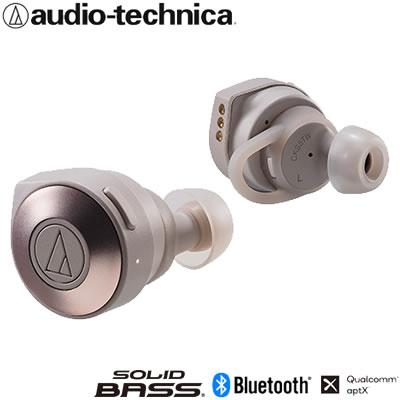 【キャッシュレス5%還元店】オーディオテクニカ 完全ワイヤレスイヤホン Bluetooth対応 ATH-CKS5TW-KH カーキ【送料無料】【KK9N0D18P】