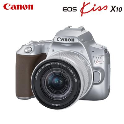 【キャッシュレス5%還元店】キヤノン デジタル一眼レフカメラ EOS Kiss X10 EF-S18-55 IS STM レンズキット EOSKISSX10LK-SL シルバー CANON【送料無料】【KK9N0D18P】