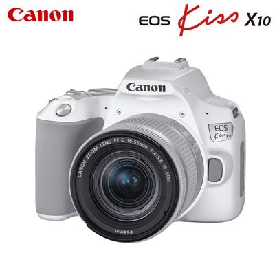 【キャッシュレス5%還元店】キヤノン デジタル一眼レフカメラ EOS Kiss X10 EF-S18-55 IS STM レンズキット EOSKISSX10LK-WH ホワイト CANON【送料無料】【KK9N0D18P】